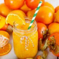 смузи с апельсином и хурмой рецепт